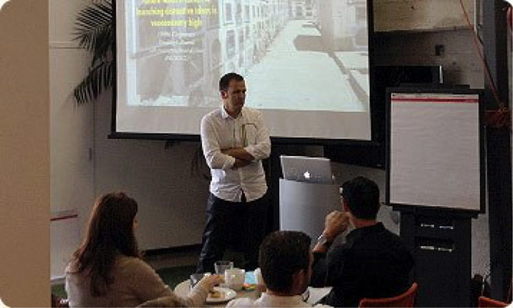 As a 'thank you', we recently organized a very special event at IDEO's world headquarters in Palo Alto, CA. On September 28th, 35 enthusiastic ExperienceInnovation™ facilitators from around the globe united for a day of learning and extraordinary fun.