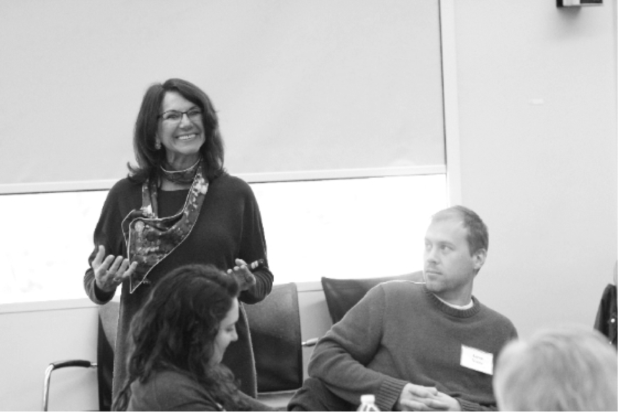 Professor Mabel Miguel facilitating ExperienceChange™: GlobalTech (Photo credit: KPO Photo)